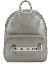 Love Moschino - Metallic Leather Backpack - Lyst