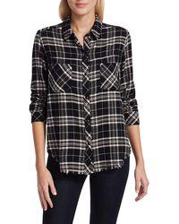 Rails Leo Plaid Shirt - Black