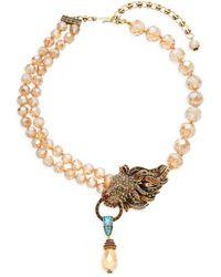 Heidi Daus Lion Roar Crystal & Rhinestone Necklace - Metallic
