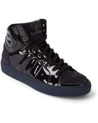 Roberto Cavalli - Suede & Velvet High-top Sneakers - Lyst