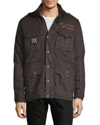 Affliction - Patched Cotton Jacket - Lyst