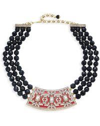 Heidi Daus Women's Goldtone & Crystal Beaded Collar Necklace - Multicolour