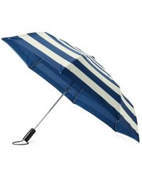 Kate Spade Off We Go Jubilee Striped Travel Umbrella - Blue