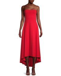 Susana Monaco Women's Strapless Seamed Dress - Red - Size L