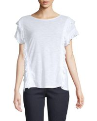 Vince Camuto - Ruffle-front Top - Lyst