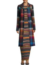 Missoni - Checked Notch Lapel Coat - Lyst