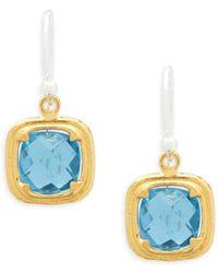 Gurhan - Malibu Blue Topaz Drop Earrings - Lyst
