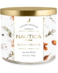 Nautica Autumn Crusade Scented Candle - Multicolour