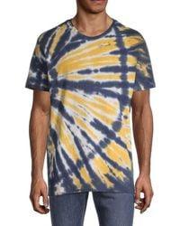 Alternative Apparel Men's Heritage Tie-dyed T-shirt - Navy - Size L - Blue