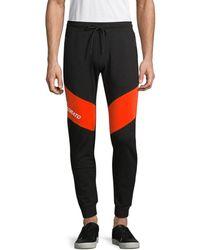 Antony Morato Men's Contrast Fleece Jogger Pants - Black - Size M