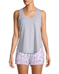 Jane And Bleecker - Curved Cotton Tank Top - Lyst