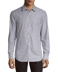 Calvin Klein - Checkered Classic-fit Button-down Shirt - Lyst
