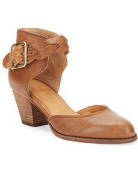 Corso Como - Burlap Leather Ankle-strap Court Shoes - Lyst
