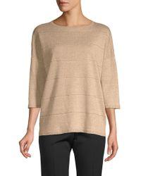 Lafayette 148 New York - Striped Linen Sweater - Lyst