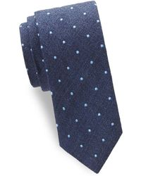 Eton of Sweden - Dotted Silk Tie - Lyst