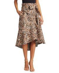 Johanna Ortiz Cynical Attitude Leopard-jacquard Wrap Skirt - Brown