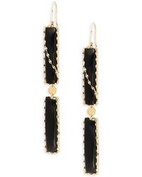 Lana Jewelry - 14k Gold & Black Onyx Duo Bar Drop Earrings - Lyst