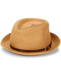 Saks Fifth Avenue Straw Fedora - Natural