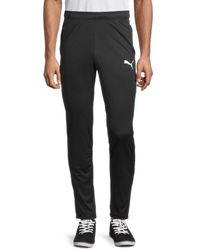 PUMA Men's Speed Colorblock-side Panel Track Pants - Black - Size M