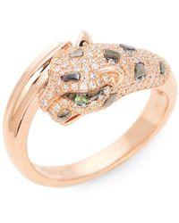 Gurhan Diamond Bangle In 14k Rose Gold - Multicolour