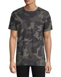 Wesc Maxwell Camouflage Cotton T-shirt - Gray