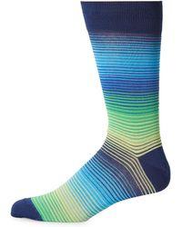 Bugatchi - Multi Stripe Casual Socks - Lyst