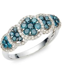 Le Vian Exotics® 14k Vanilla Gold®, Blueberry Diamonds® & Vanilla Diamonds® Ring - Multicolour