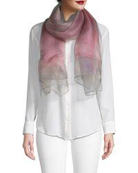 Saachi Ombre Glitz Silk Scarf - Pink