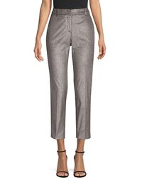 Peserico Baby Corduroy Ankle Trousers - Grey