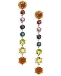 Ippolita - Rock Candy Multicolored Multi-stone And 18k Gold Linear Earrings - Lyst