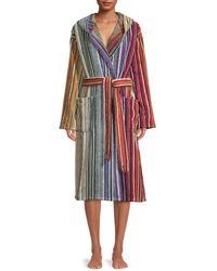 Missoni Tabata Striped Bath Robe - Striped Multicolour - Size M