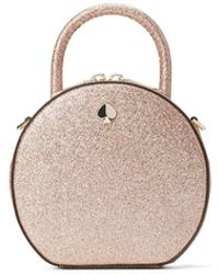 Kate Spade Mini Andi Glitter Leather Canteen Bag - Pink