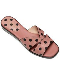 Kate Spade Polka-dot Leather Sandals - Pink