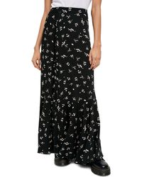 Free People Ruby's Forever Print Maxi Skirt - Black