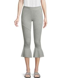 Generation Love Veronica Flared Cropped Joggers - Gray