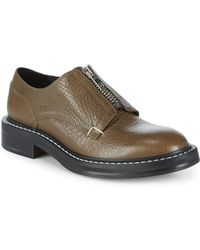 Rag & Bone - Top Zip Textured Leather Army Shoes - Lyst