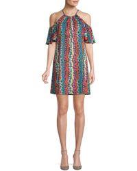 Trina By Trina Turk - Viola Multicolored Floral Shift Dress - Lyst