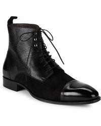 Mezlan - 18688 Mixed Media Leather Boots - Lyst