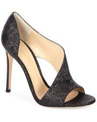 Gianvito Rossi - Asymmetric Glitter Sandals - Lyst
