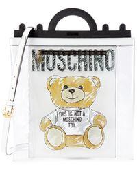 Moschino Women's Bear Graphic Pvc Shopper - White