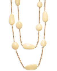 Kenneth Jay Lane Women's Goldtone & Ceramic Strand Necklace - Metallic