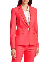 Rag & Bone Women's Lexington Classic Tailor-fit Stretch-wool Twill Blazer - Bright Pink - Size 2
