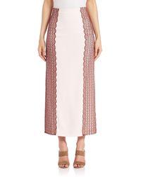Tanya Taylor Simmons Midi Skirt - Pink