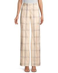 Lafayette 148 New York - Women's Winthrop Plaid Trousers - Sand - Size 10 - Lyst