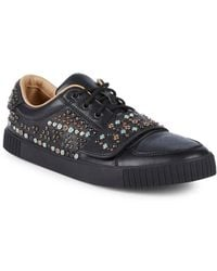 Valentino - Studded Low-top Sneakers - Lyst