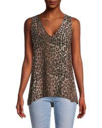 Johnny Was Leopard-print Silk Tank Top - Brown