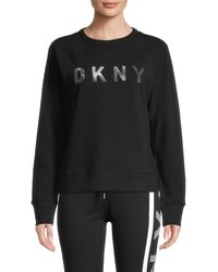 DKNY Logo Graphic Sweatshirt - Black