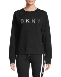 DKNY Logo Graphic Sweatshirt - Black