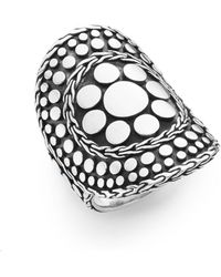 John Hardy - Dot Nuansa Curved Sterling Silver Ring - Lyst