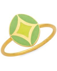 Legend Amrapali 18k Yellow Gold Ring - Multicolour